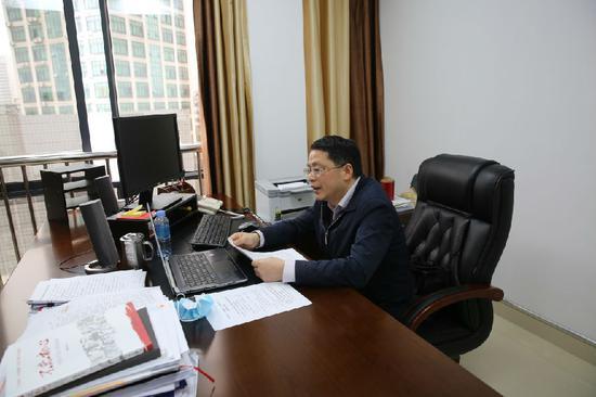广西福彩中心主任杜波同志在视频会议上作动员部署