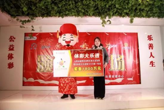山西省体育彩票治理中央副主任张淑英为中奖者授奖