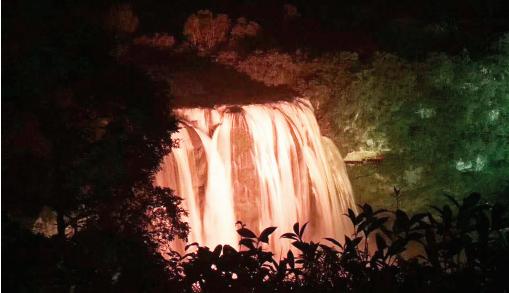 好美!夜游黄果树 领略大瀑布雄魂