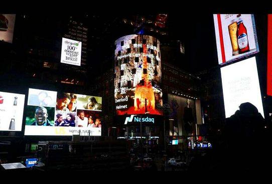 贵州织金洞世界地质公园 亮相美国纽约时代广场
