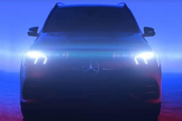 奔驰全新GLE预告图曝光 或搭48V轻混动力