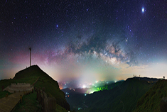 六盘水乌蒙大草原的星空