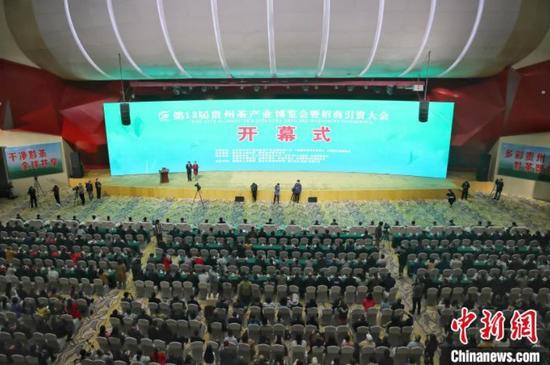 图为第13届贵州茶产业博览会开幕式。 瞿宏伦 摄