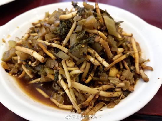 酸菜拌折耳根