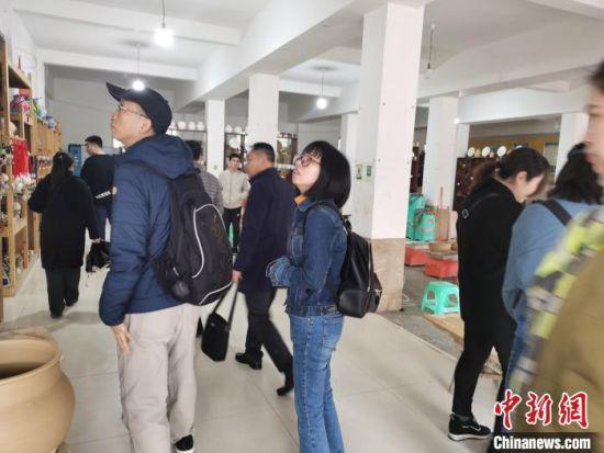 两岸记者参观贵州花茂村 见证农