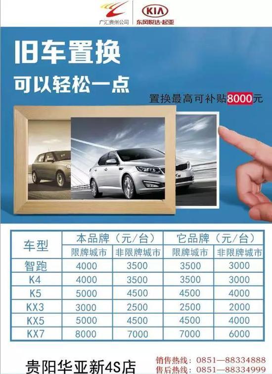车展期间贵州华亚新换购车,旧车免费评估,成功置换新车还有置换大礼可享,最高8000元置换补贴!!