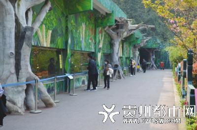 动物园的游客并不多。