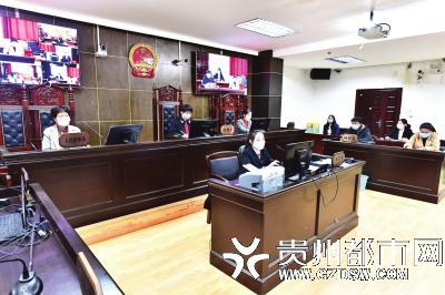 云岩区法院少年庭远程开庭,画面清晰流畅。