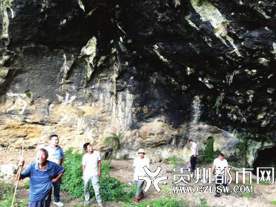 专家在大岩洞考察。