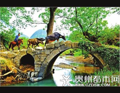 村落里一座小桥。