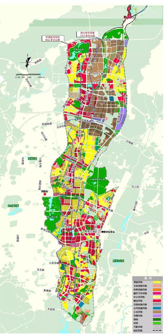 数博大道规划用地范围示意图