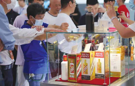贵州酒类博览会现场。