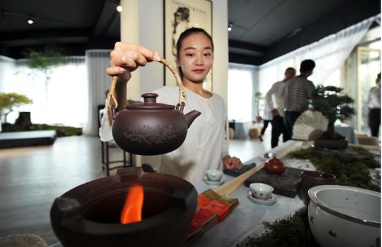 茶艺展示现场(赵松 摄)