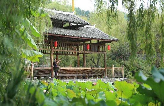 一名游客在乌当区偏坡村观景。(乌当区委宣传部供图)