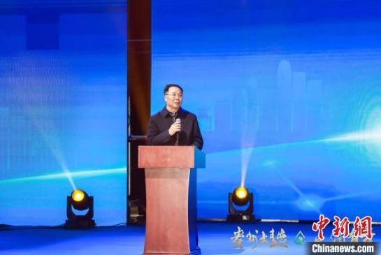 图为茅台集团党委书记、董事长李保芳讲话。活动方供图