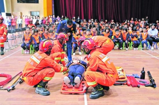 贵阳云岩区:消防安全宣传进校园
