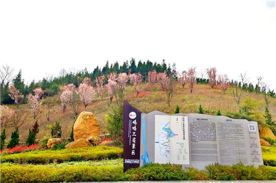 鸡鸣三省红色旅游景区春暖花开。(鸡鸣三省红色旅游景区供图)