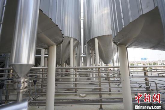 图为青岛安顺共建产业园内的熊猫精酿项目。 贺俊怡 摄