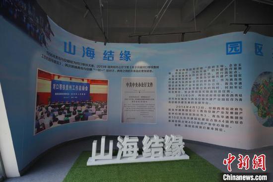 图为青岛安顺共建产业园展示中心。 贺俊怡 摄