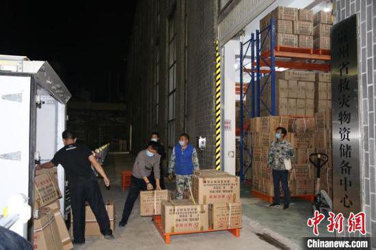 图为调运物资。贵州省应急管理厅供图