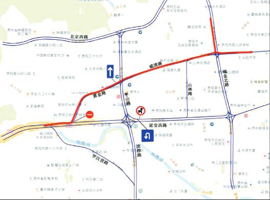 枣山路一带交通调整示意图。