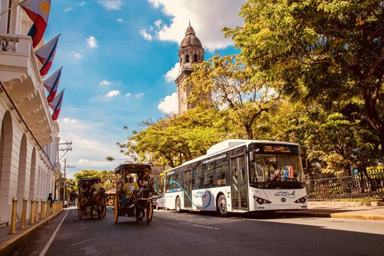 比亚迪电动巴士车队将服务马尼拉民众