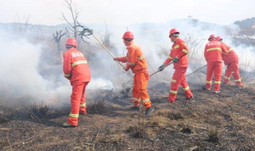 久长街道开展森林防火应急综合演练