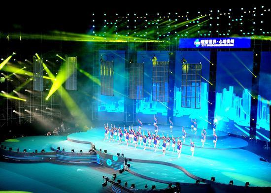 開幕式現場精彩的舞蹈表演 羅飛宇 攝