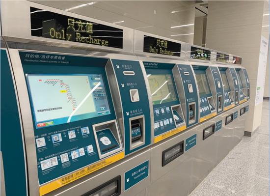 贵阳地铁的售票系统已经准备好。
