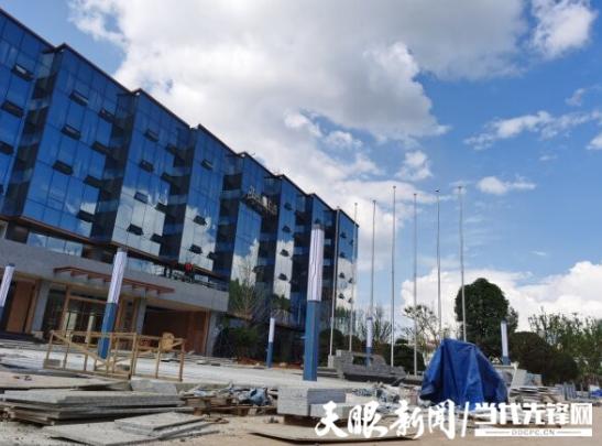贵州黔玻永太新材料有限公司一期项目办公楼即将完工