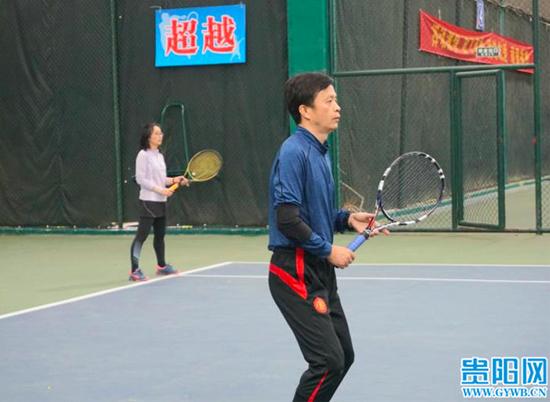 2021年贵阳市第十六届家庭杯网球赛正式开赛