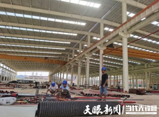 贵州黔玻永太新材料有限公司一期项目厂房即将完工