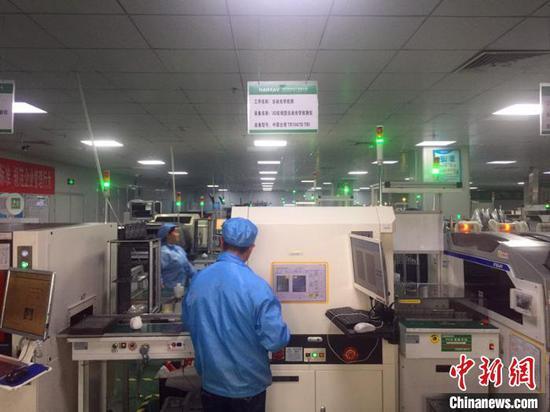 西秀区智能终端产业园内的翰瑞电子智能终端产业项目。张伟 摄