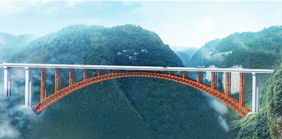 香火岩特大桥合龙 遵贵高速有望2018年通车
