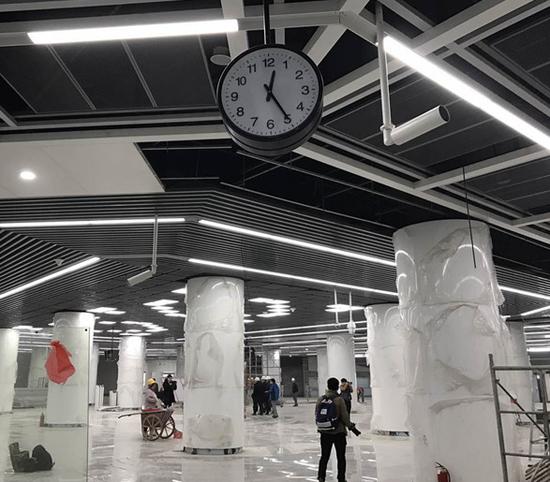 """揭开贵阳地铁站的""""神秘面纱"""""""