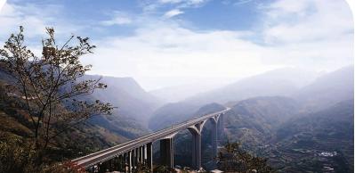 六盘水至盘县高速公路北盘江特大桥。 图自中国土木工程学会官网