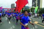 2017梵净山万人微型马拉松在江口开跑 1.5万人参加