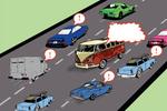 毕节:大货司机酒驾上高速 错过路口货车逆行一公里