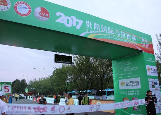 2017贵阳国际马拉松赛 运动员风采