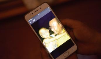 蒋家定微信头像是抱着四岁半儿子一起照的,拍摄时间就在儿子失踪前几小时