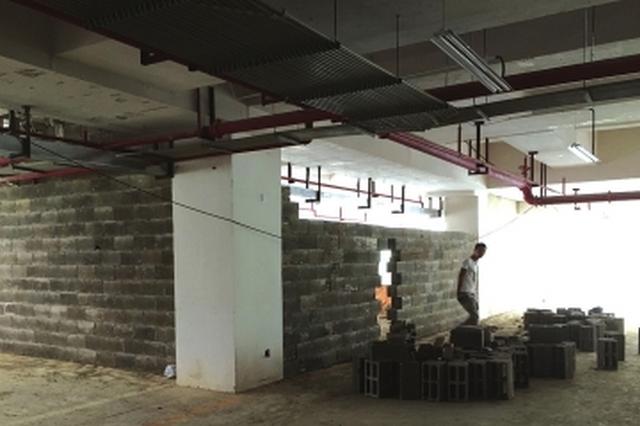 乌当区阳晨美林小区:地下停车场被人私自改成了商铺