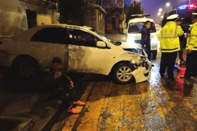 """大方:男子撞车以后竟然在车上睡觉 这是真的""""醉了&quot"""