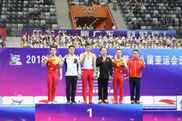 贵州邓书弟夺得全国体操锦标赛单杠金牌