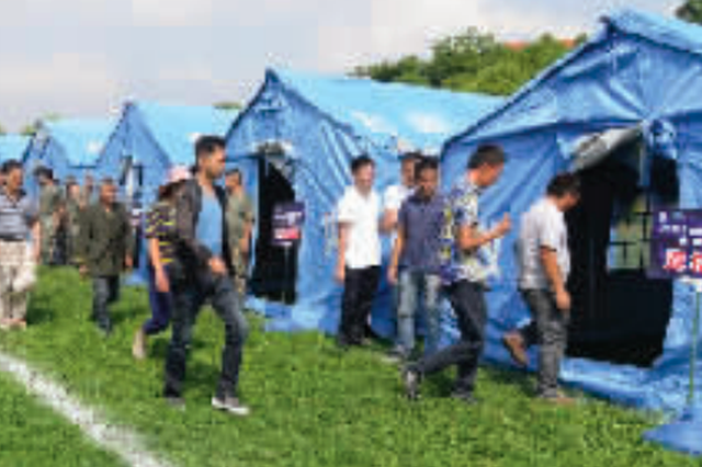 贵阳:模拟灾害来袭 紧急转移村民