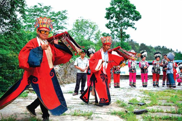 """安顺苗族同胞举行仪式 欢庆""""四月八"""""""