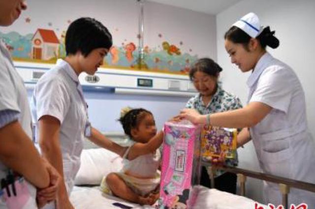 治疗一周后 清镇受虐女童康复出院