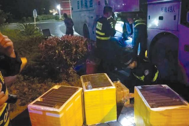 行李箱藏900多条烟 客车司机涉嫌非法运输烟草被抓获