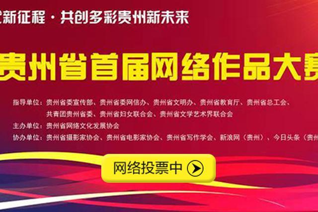 贵州省首届网络作品大赛开启网络投票