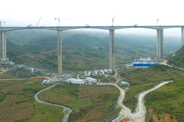 贵州海拔最高刚构桥合龙 六威高速李子沟特大桥贯通