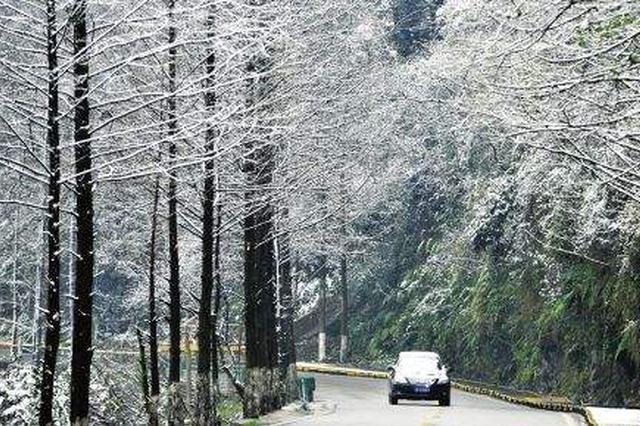 贵州:气温低迷 雨雪天气持续 开阳出现冻雨